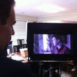 Co-Director Seth Panitch watching the monitor